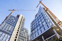 Construcción de los edificios de oficinas Fotografía de archivo