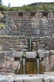 Construcción de los incas en Perú Fotos de archivo