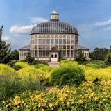 Construcción de los jardines botánicos Fotografía de archivo
