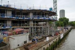 Construcción de los jardines del paseo del río, Pimlico Imagen de archivo
