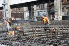 Construcción de los trabajadores de construcción Fotografía de archivo libre de regalías