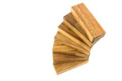 Construcción de madera de la escalera espiral Imagen de archivo
