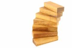 Construcción de madera de la escalera espiral Imagenes de archivo