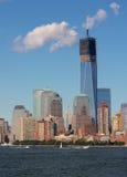 Construcción de Nueva York WTC Imágenes de archivo libres de regalías