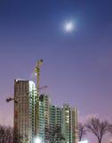 Construcción de nuevos rascacielos Imágenes de archivo libres de regalías