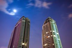 Construcción de nuevos rascacielos Foto de archivo
