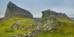 Construcción de piedra antigua escocesa, broch Carloway Isla de Lewis Imagenes de archivo