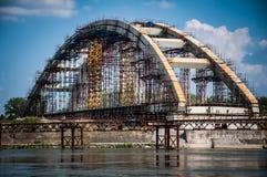 Construcción de puente Imágenes de archivo libres de regalías