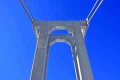 Construcción de puente de cuerda Fotografía de archivo