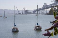 Construcción de puente de la bahía 2 fotografía de archivo