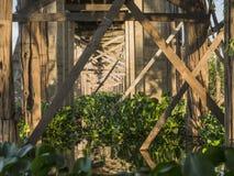 Construcción de puente de la teca fotos de archivo libres de regalías