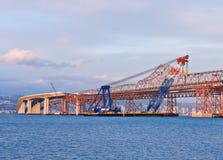 Construcción de puente de San Francisco Bay Foto de archivo