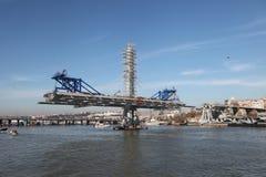 Construcción de puente en Estambul Imagen de archivo
