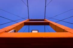 Construcción de puente de la historia de Taksin foto de archivo libre de regalías