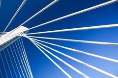 Construcción de puente moderna Fotografía de archivo