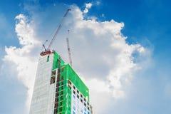 Construcción de rascacielos Imagen de archivo libre de regalías