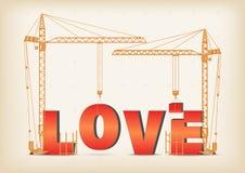 Construcción de un amor stock de ilustración