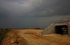 Construcción de un camino Imagenes de archivo