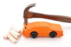 Construcción de un coche del juguete Fotografía de archivo libre de regalías