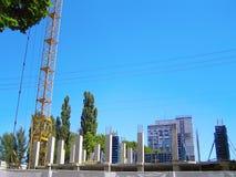 Construcción de un nuevo complejo de gran altura Foto de archivo libre de regalías
