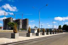 Construcción de un nuevo complejo residencial en Avtozavodskaya Imagen de archivo