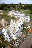 Construcción de un nuevo domicilio familiar Fotos de archivo libres de regalías