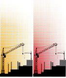 Construcción de un nuevo edificio a gran altitud stock de ilustración