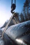Construcción de un nuevo oleoducto Imagenes de archivo