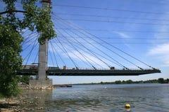 Construcción de un nuevo puente Imágenes de archivo libres de regalías