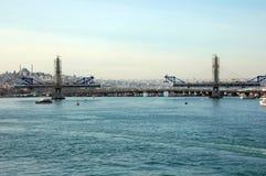 Construcción de un puente Foto de archivo
