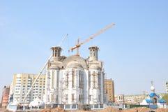 Construcción de un templo Fotografía de archivo