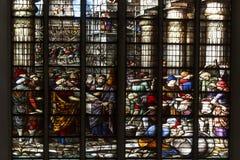 Construcción de una catedral en las Edades Medias Fotos de archivo libres de regalías