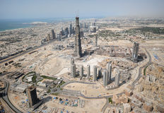 Construcción de una ciudad entera imagenes de archivo