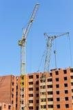 Construcción de una construcción de viviendas Imágenes de archivo libres de regalías