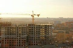 Construcción de una construcción de viviendas residencial Imagen de archivo