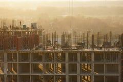 Construcción de una construcción de viviendas residencial Foto de archivo