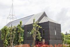 Construcción de una iglesia moderna Foto de archivo libre de regalías