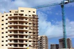Construcción de una nueva área residencial Imagen de archivo libre de regalías