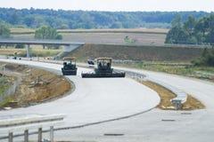 Construcción de una nueva carretera Fotografía de archivo libre de regalías