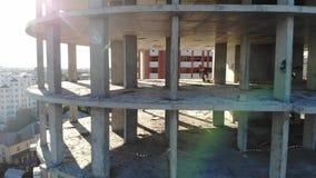 Construcción de una construcción de viviendas Tiros del aire metrajes