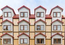 Construcción de viviendas única en Ushuaia, la Argentina Fotografía de archivo