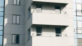 Construcción de viviendas abstracta que establece el tiro almacen de video