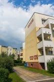 Construcción de viviendas con el numer 133 y 135 Fotografía de archivo