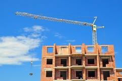 Construcción de viviendas de apartamento Fotografía de archivo