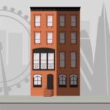 Construcción de viviendas de Londres stock de ilustración