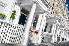 Construcción de viviendas de lujo en Londres Imagenes de archivo