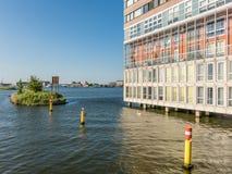 Construcción de viviendas de Silodam en Amsterdam, Holanda Imagen de archivo libre de regalías