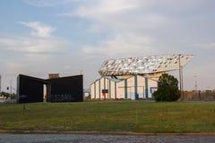 Construcción de viviendas del puerto, Amberes, Bélgica Imagen de archivo