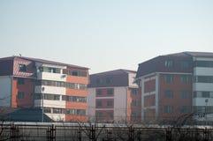 Construcción de viviendas en Bucarest Foto de archivo libre de regalías