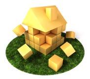 Construcción de viviendas en jardín Foto de archivo libre de regalías